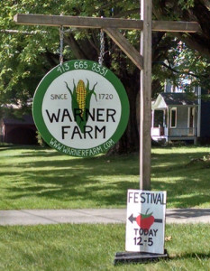 Warner Farm sign